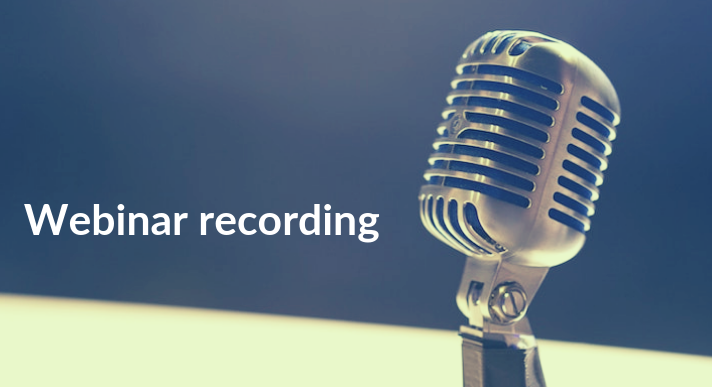 Recorded webinar